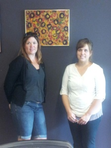 Pictured are Jean Skogman and Holly Berg, of Donna Lexa staff.